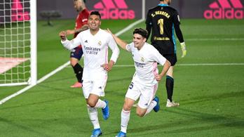 Szenvedett, de nyert a Real Madrid az Osasuna ellen