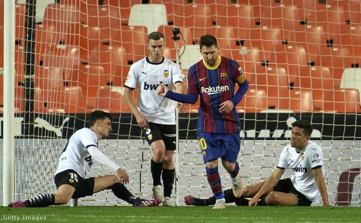 Messi öröme az első gólja után