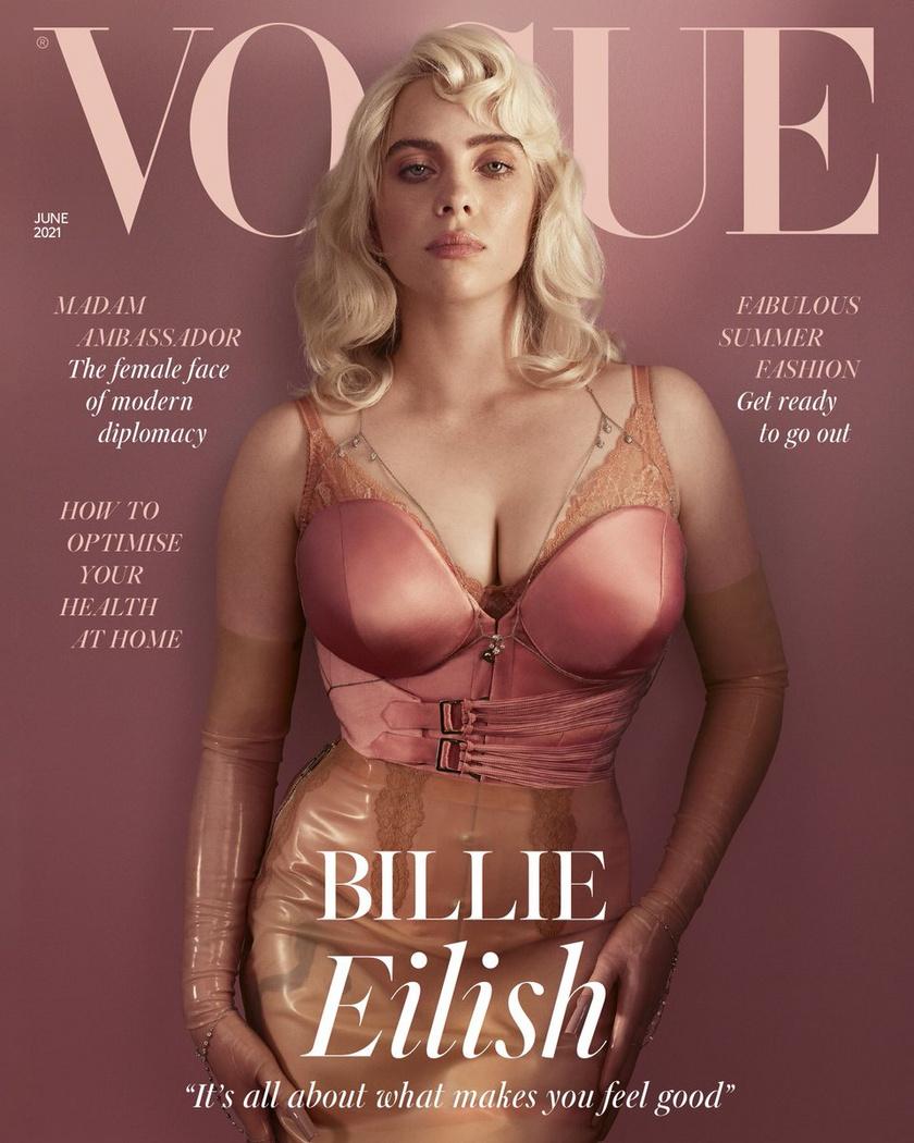 Billie Eilish életében először mutatta meg alakját fehérneműben.
