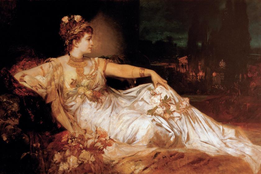 Messalina, a nimfomán császárné.
