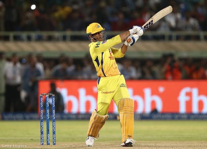 MS Dhoniaz Indian Premier Leaguenevű krikett-tornán 2019. május 10-én