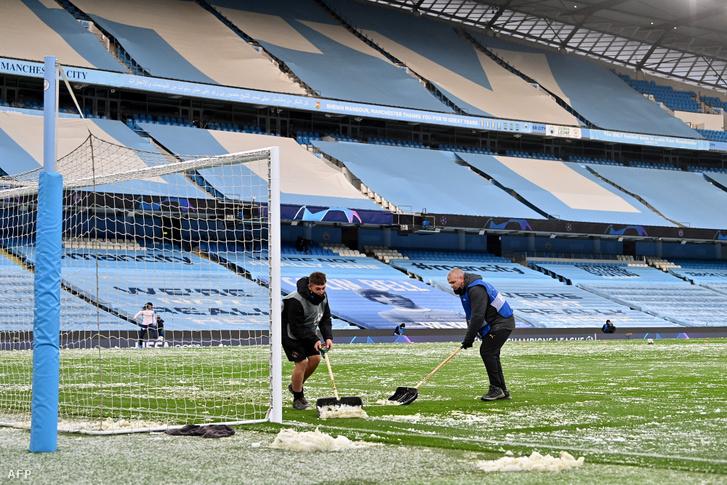 Nem mindennapi időjárási körülmények között fogadta a City a PSG-t a BL-elődöntő visszavágóján