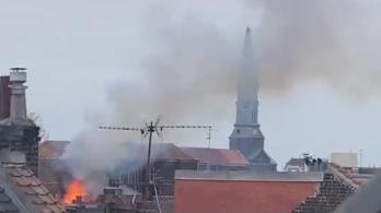 Leégett egy katolikus templom Franciaországban