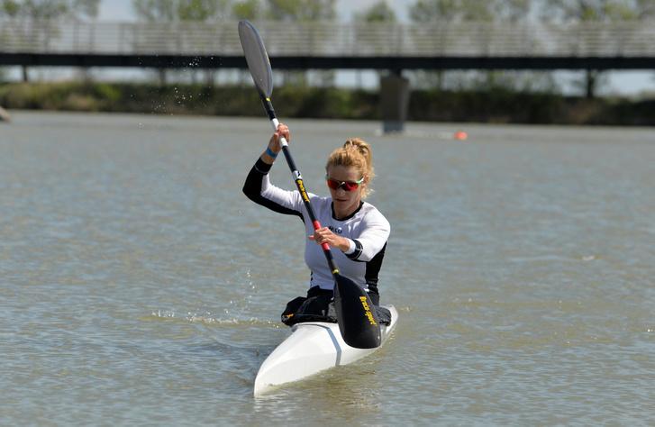 Douchev-Janics Natasa 2021. május 05-én a szegedi olimpiai kvalifikációs versenyen