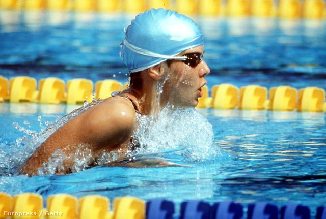 Egerszegi Krisztina a '92-es barcelonai játékok 400 méteresvegyesúszás döntőjében