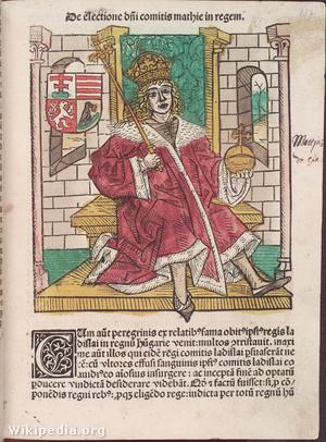 Hunyadi Mátyás a Thuróczi János-féle Chronica Hungarorum-ban