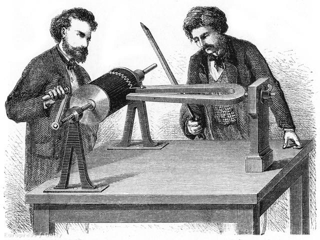 A hangrezgések grafikus tanulmányozására kifejlesztett Fonautográf 1857-ben