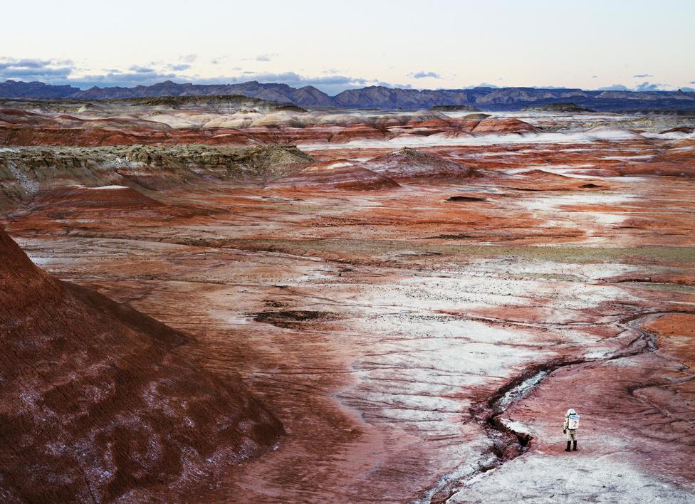Marsi Sivatagi Kutatóállomás.                         San Rafael Swell, Utah, U.S.A., 2008.