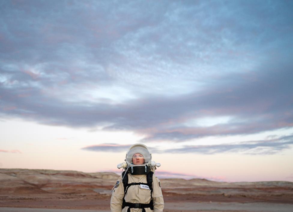 Marsi Sivatagi Kutatóállomás. San Rafael Swell, Utah, U.S.A., 2008.                         A Mars Society tulajdonában álló bázis, kisebb csoportok látogatják, akik tudományos kísérleteket végeznek itt.