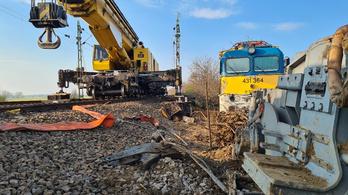 Helyreállították a vasúti pályát az Újfehértónál történt baleset után