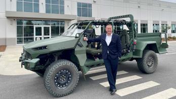 Elektromos katonai terepjárót készített a GM Defense