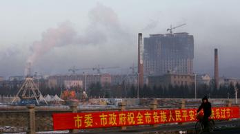 Kína károsanyag-kibocsátása túlszárnyalja az összes fejlődő országét együttvéve