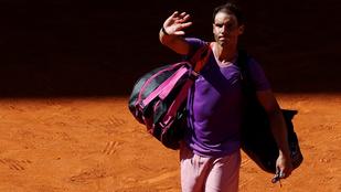Rafael Nadal kiesett Madridban
