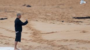 Ez nem film, Christian Bale csak sétált egyet az esőben a strandon