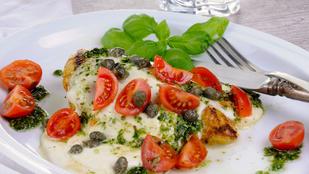 Pestóval töltött csirkemell – olasz hangulatban még finomabb