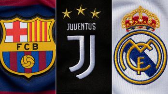 A Barcelona, a Juventus és a Real Madrid tartja magát a Szuperliga elindításához