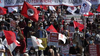 Több ezres tüntetés kísérte a portói EU-csúcstalálkozót