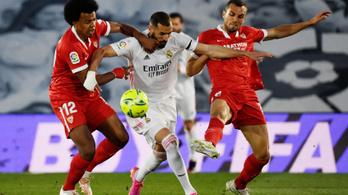 A Real nem bírt a Sevillával, élen maradt az Atlético