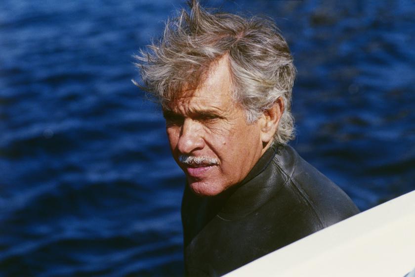 Jacques Mayol A nagy kékség forgatásán.