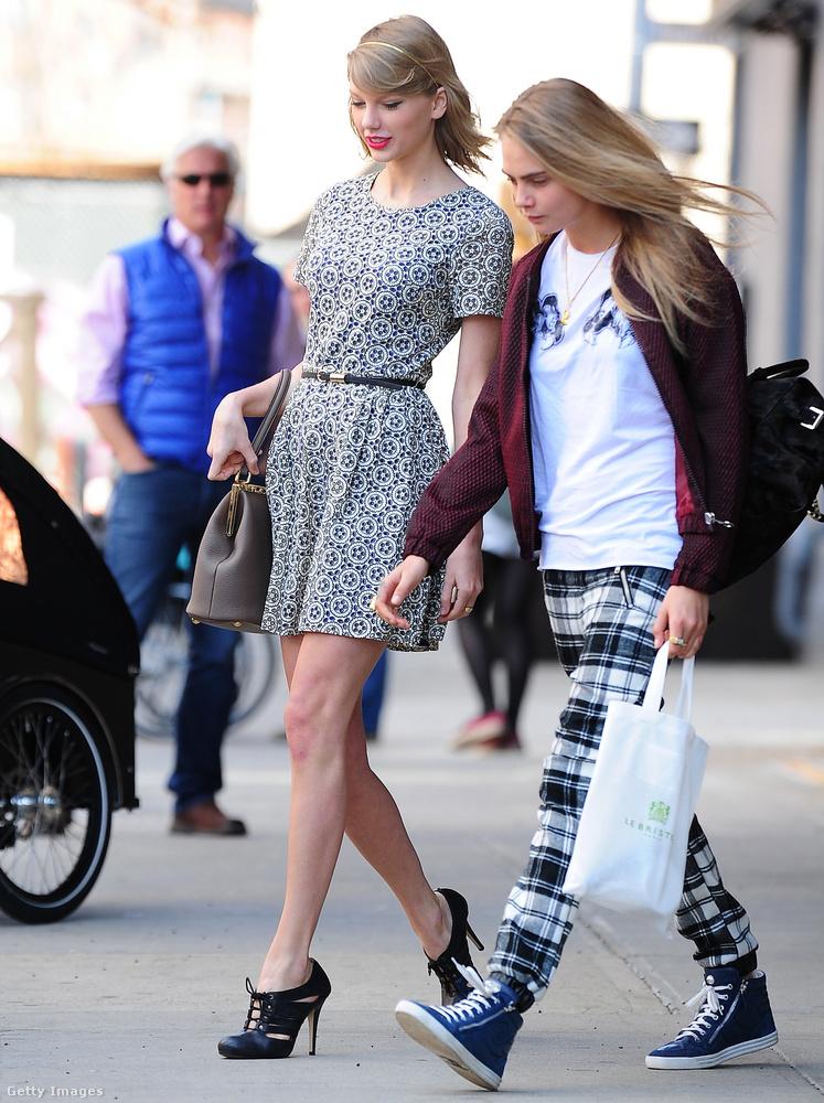 2014 volt az az év, amikor úgy tűnt, mindenhol ott van: Taylor Swift extramenő arcokból álló barátnőkommandójában,