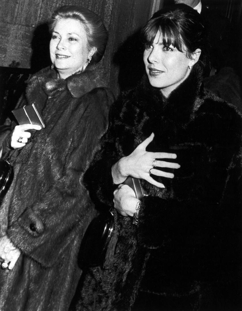 Grace Kelly és Stephanie hercegnő 1980-ban.