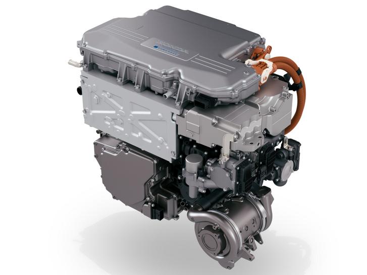 Mindent egybeépítettek a Honda Clarity üzemanyagcellás hajtásláncában. Alul jól látszik a kompresszor