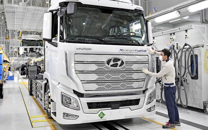 A Hyundai üzemanyagcellás kamionja 400 km-t tesz meg 34 kg hidrogén felhasználásával