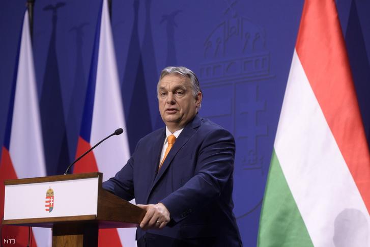 Orbán Viktor miniszterelnök sajtótájékoztatót tart 2021. február 5-én