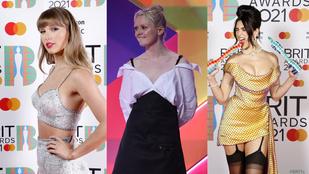 Brit Awards: szép nők dögösködtek egy rém ronda fal előtt