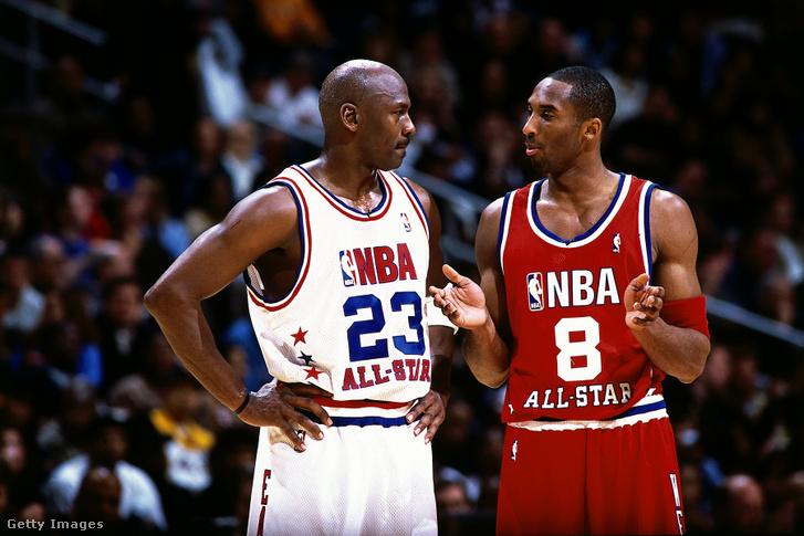 Michael Jordan és Kobe Bryant a 2003-as NBA All Star-gála fő meccsén