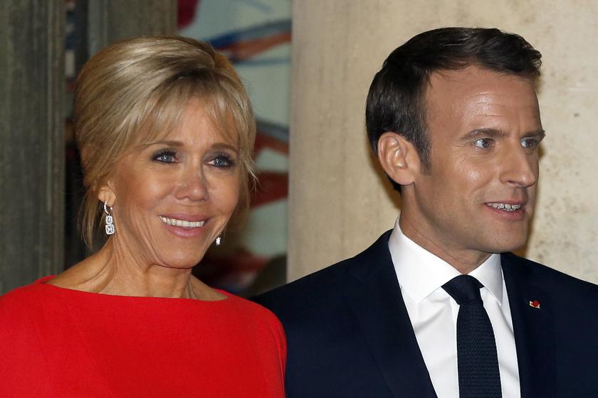 A francia elnök felesége káprázatos volt tűzpiros estélyi ruhájában: Brigitte Macron legszebb kreációi