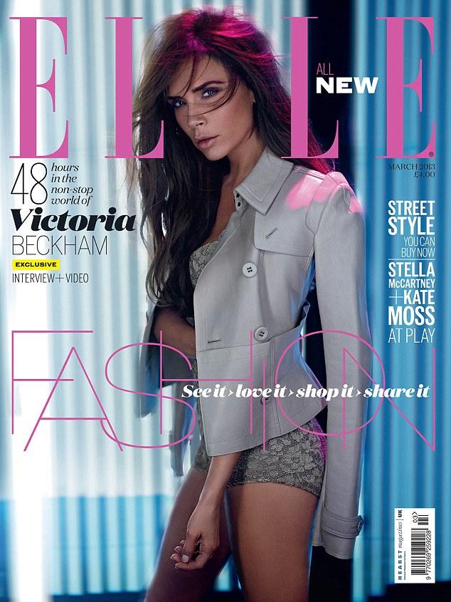 Íme, Beckhamné a brit Elle márciusi címlapján