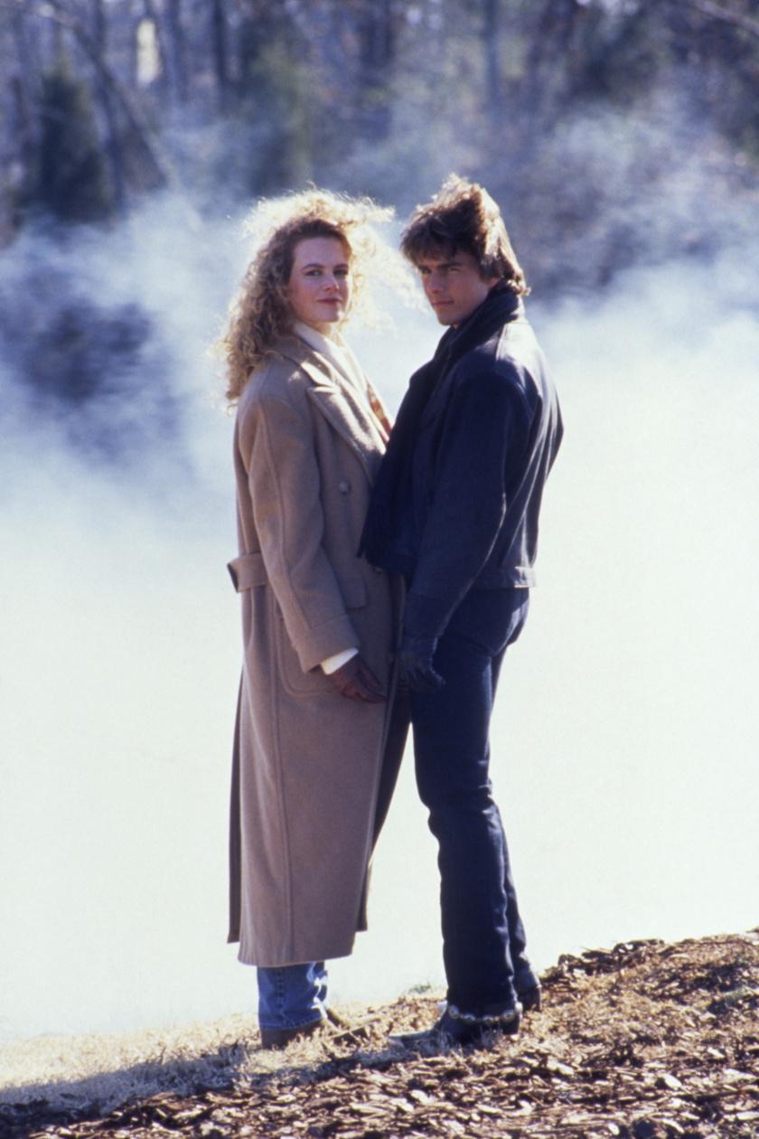 Nicole Kidman és Tom Cruise 1990-ben a Mint a villám című film forgatásán.