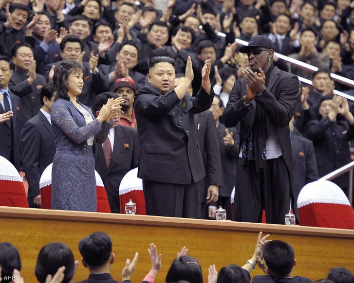 A világ egyik legabszurdabb barátsága: Kim Dzsongun és Dennis Rodman