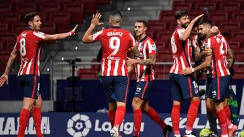 Nagy lépést tett a bajnoki cím felé az Atlético Madrid