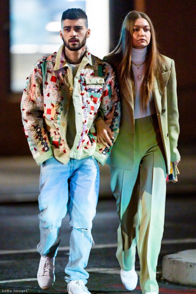 Zayn Malikról és Gigi Hadidról ez a kép 2020-ban készült