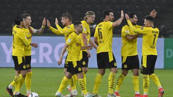 A Dortmund egy félidő alatt elintézte Gulácsiékat a kupadöntőben