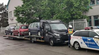 Horrorkaravánra akadtak a rendőrök Szigetszentmiklóson