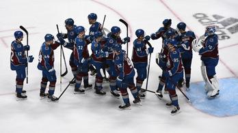 A Colorado Avalanche nyerte az NHL alapszakaszát