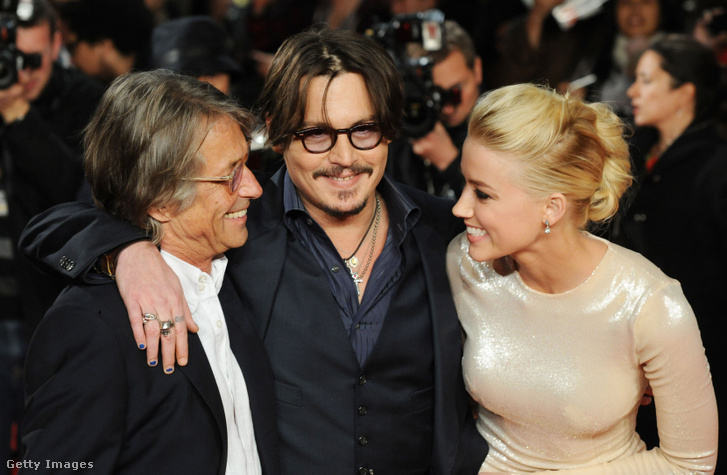 Bruce Rubinson, Johnny Depp és Amber Heard a Rumnapló című film premierjén, 2011. november 3-án
