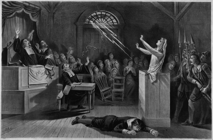 A salemi boszorkányper, litográfia 1892-ből