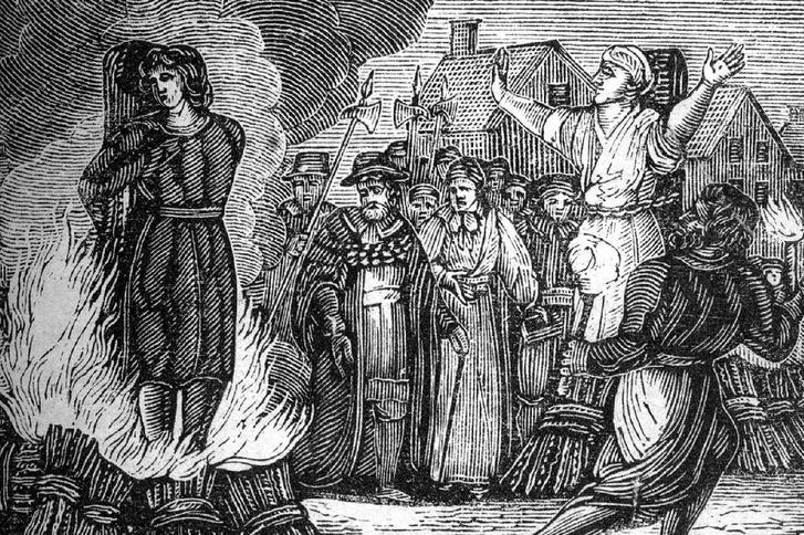 Boszorkányégetés