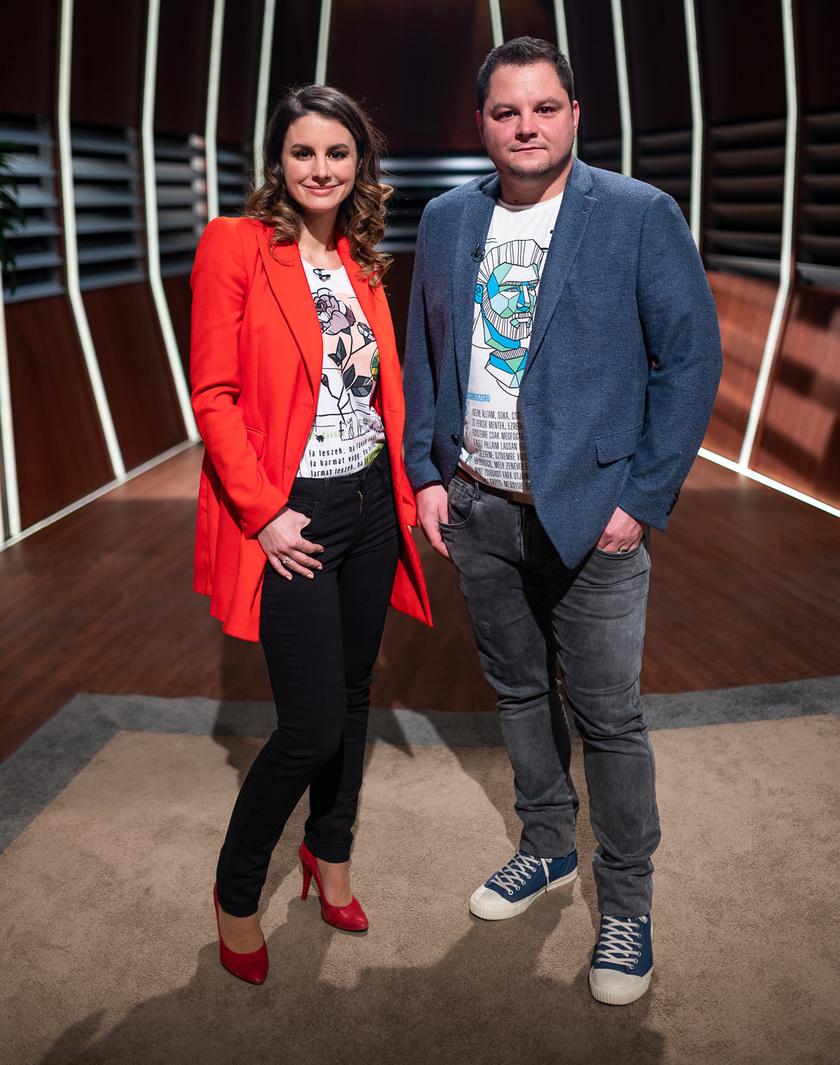Szabó Erika és testvére a Cápák között című műsorban.
