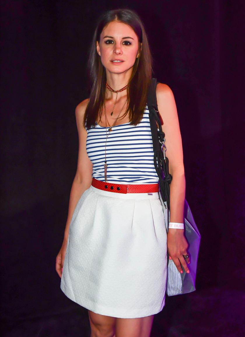Szabó Erika a TV2 A Nagy Duett című műsorának kulisszái mögött 2018-ban.