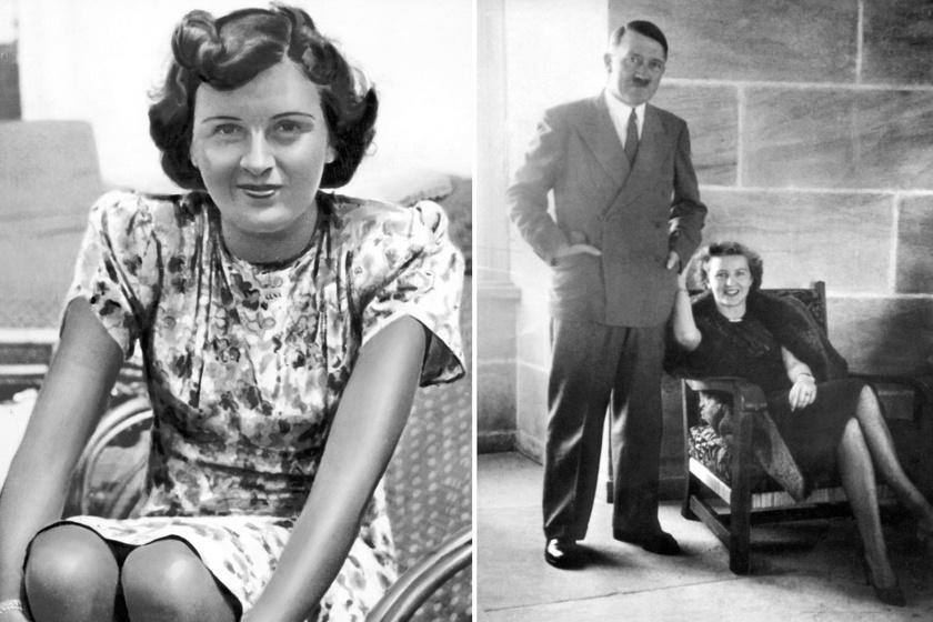 Eva Braun és Hitler.