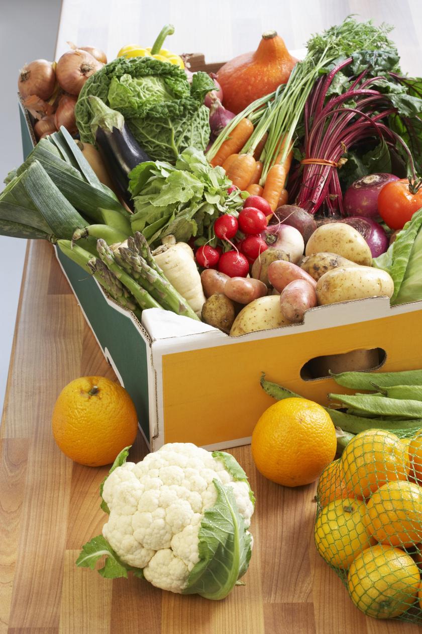 egészséges élelmiszerek álló