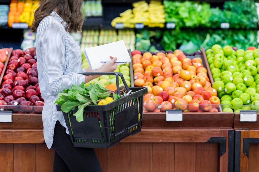 élelmiszer bevásárlólista belső