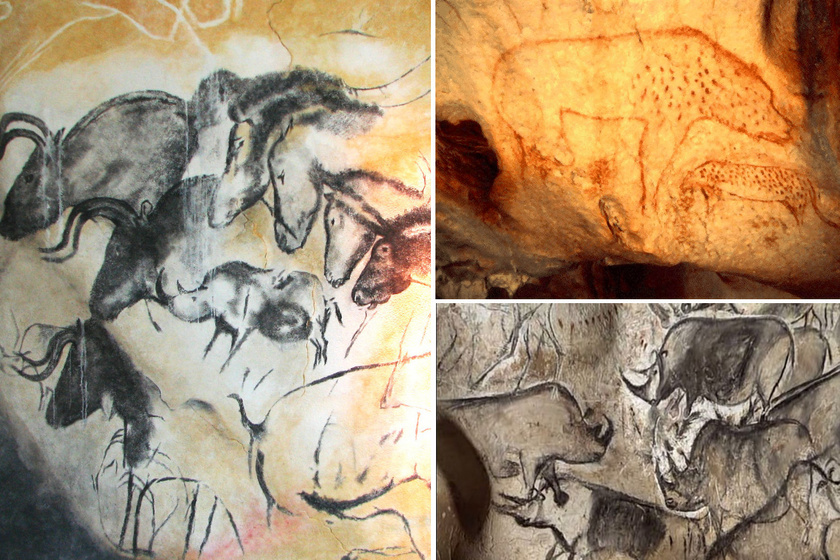 A Chauvet-barlang rajzai.