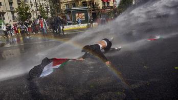 Európa nagyvárosaiban tüntettek az izraeli légicsapások ellen