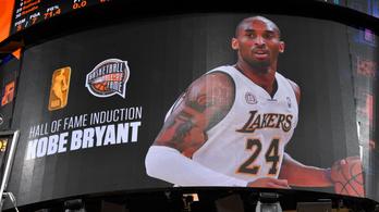 Kobe Bryantet beiktatták a Hírességek Csarnokába